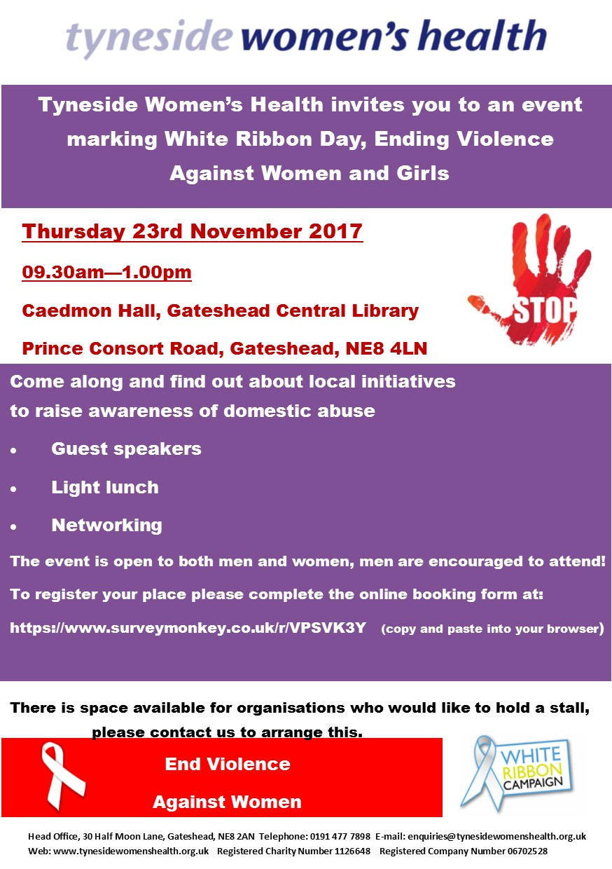 White Ribbon Event Flyer